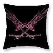 The Pink Falcon Throw Pillow