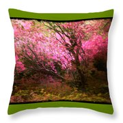The Pink Forest Throw Pillow