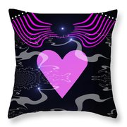 448 - The Pink Heart 2   Throw Pillow