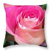 The  Pink Rose Throw Pillow