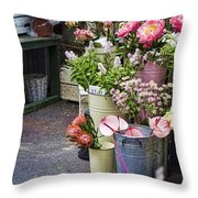 The Pink Section Throw Pillow