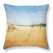 The Pinnacles In Western Australia Throw Pillow