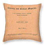 The Pioneer Literary Magazine Throw Pillow