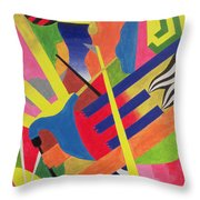 The Pipe Band, 1990 Throw Pillow