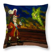 The Pirate And The Fairy Throw Pillow