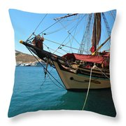 The Pirate Ship  Throw Pillow