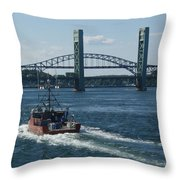 The Piscataqua River Throw Pillow