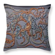 The Pit Throw Pillow by Anthony Morris