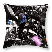 The Pit Stop Throw Pillow