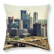 The Pittsburgh Skyline Throw Pillow