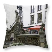 The Pixie Fountain Cologne Germany Throw Pillow