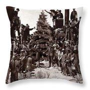 The Placing Of The Golden Star Throw Pillow