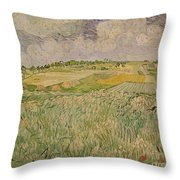 The Plain At Auvers Throw Pillow