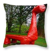 The Playful Dinosaur  Throw Pillow