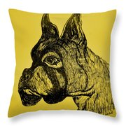 The Playful Guardian Throw Pillow