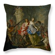 The Pleasures Of The Seasons     Spring Throw Pillow by Johann Georg Platzer