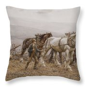 The Ploughman Wilmington Polegate Near Eastbourne Throw Pillow