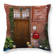 The Plumber's Home Throw Pillow