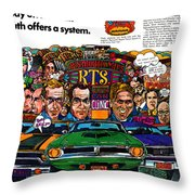 The Plymouth Rapid Transit System Throw Pillow
