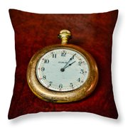 The Pocket Watch Throw Pillow