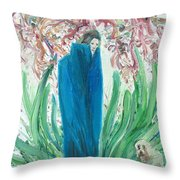 The Poet And The Dog Throw Pillow