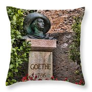 The Poet Passed This Way Throw Pillow