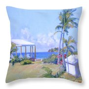 The Point Morning Light Throw Pillow