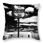 The Polk-a-dot Drive In Throw Pillow