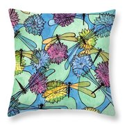 The Pond - An Aerial View Throw Pillow