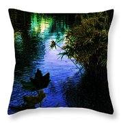 The Pond At Dusk Throw Pillow