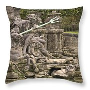 The Ponds Of Versailles - 1  Throw Pillow