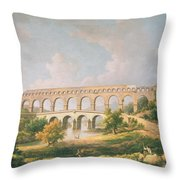 The Pont Du Gard, Nimes Throw Pillow