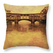 The Ponte Vecchio In Florence Italy Throw Pillow