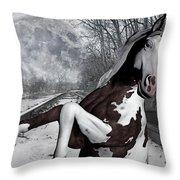 The Pony Express Throw Pillow