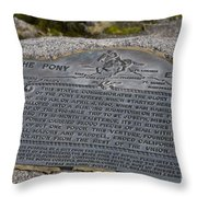 The Pony Express Marker Throw Pillow