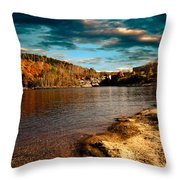 The Pool Below Upper Falls Rumford Maine Throw Pillow by Bob Orsillo