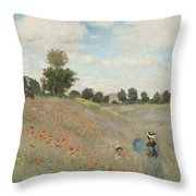 The Poppy Field Throw Pillow