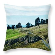 The Port Hills Throw Pillow