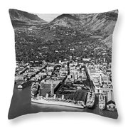 The Port Of Honolulu Throw Pillow