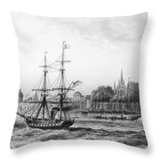 The Port Of New Orleans Throw Pillow