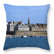 The Port Of St Malo France Throw Pillow