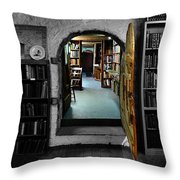 The Portal To Learning Throw Pillow