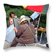 The Portrait In Color Throw Pillow