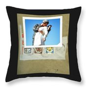 The Post Card Home Throw Pillow