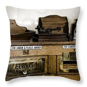 The Post Throw Pillow by Heather Applegate