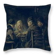 The Potato Eaters, 1902 Throw Pillow