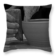The Potter's Hands Throw Pillow