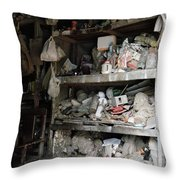 The Potter's Workshop Throw Pillow