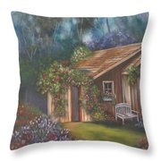 The Potting Shed Throw Pillow
