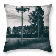 The Power Lines  Throw Pillow
